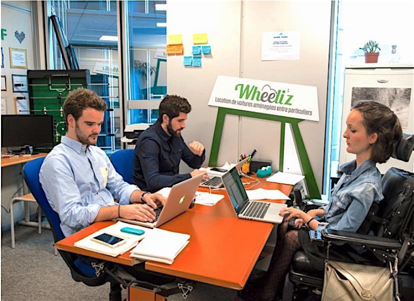 la start up wheeliz a mis en place une plateforme d di e aux v hicules pour personnes mobilit. Black Bedroom Furniture Sets. Home Design Ideas